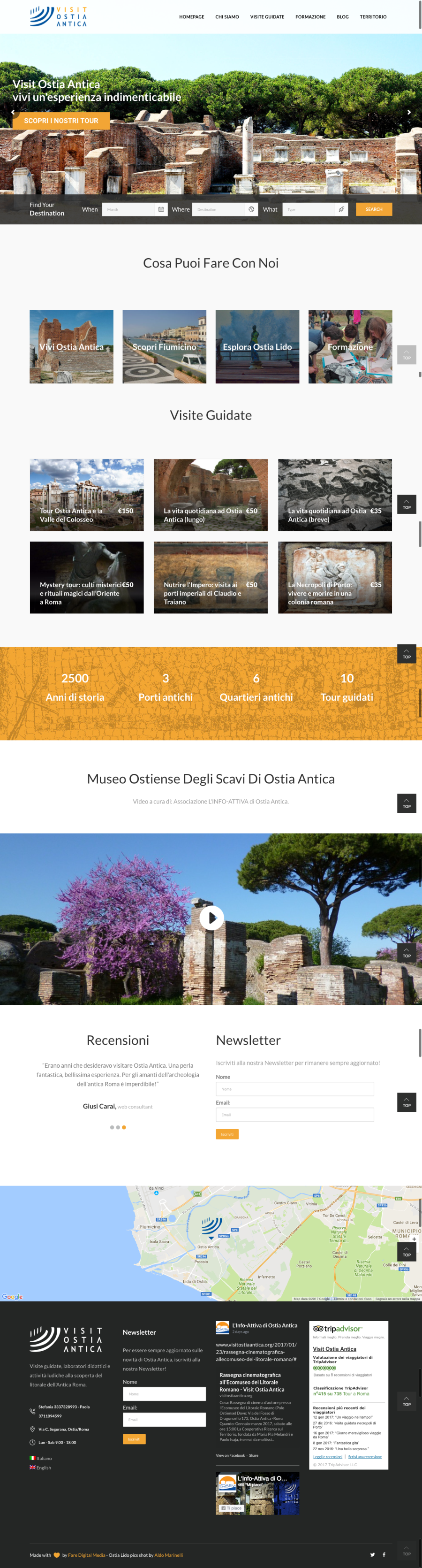screeshot visit ostia antica web marketing